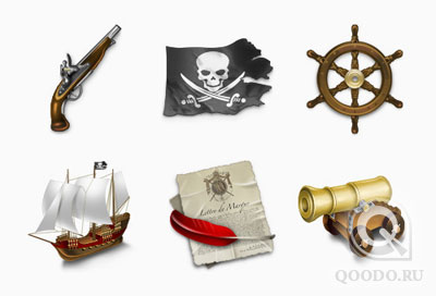 Pirates icons - Иконки для веб-сайта