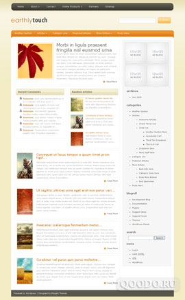 ET Earthly Touch - Шаблон для WordPress