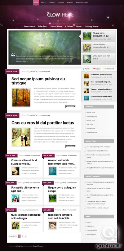 ET GlowTheme - Шаблон для WordPress