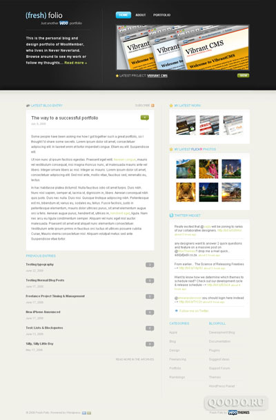 WT Fresh Folio - Шаблон для WordPress