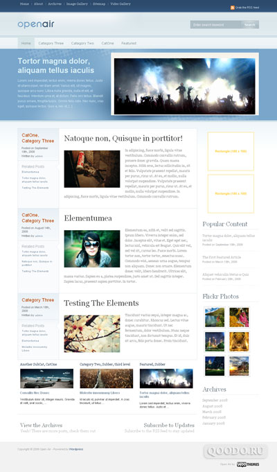 WT Open Air - Шаблон для WordPress