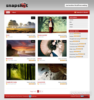 WT Snapshot - Шаблон для WordPress