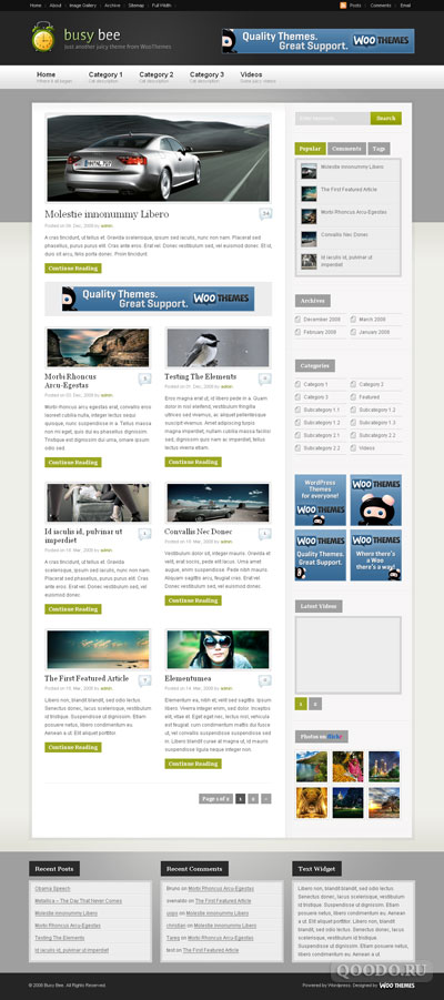 WT Busy Bee - Шаблон для WordPress
