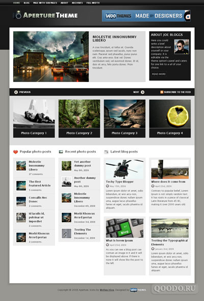 WT Aperture - Шаблон для WordPress