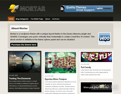 WT Mortar - Шаблон для WordPress