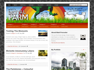 WT Digital Farm - Шаблон для WordPress