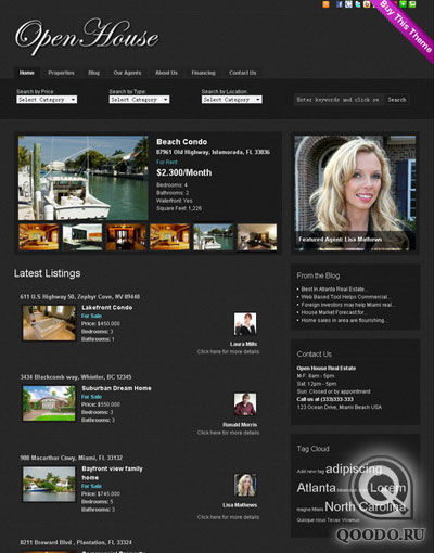 GorillaTheme Open House Real Estate - Шаблон для WordPress