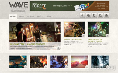 ThemeForest Wave - Шаблон для WordPress